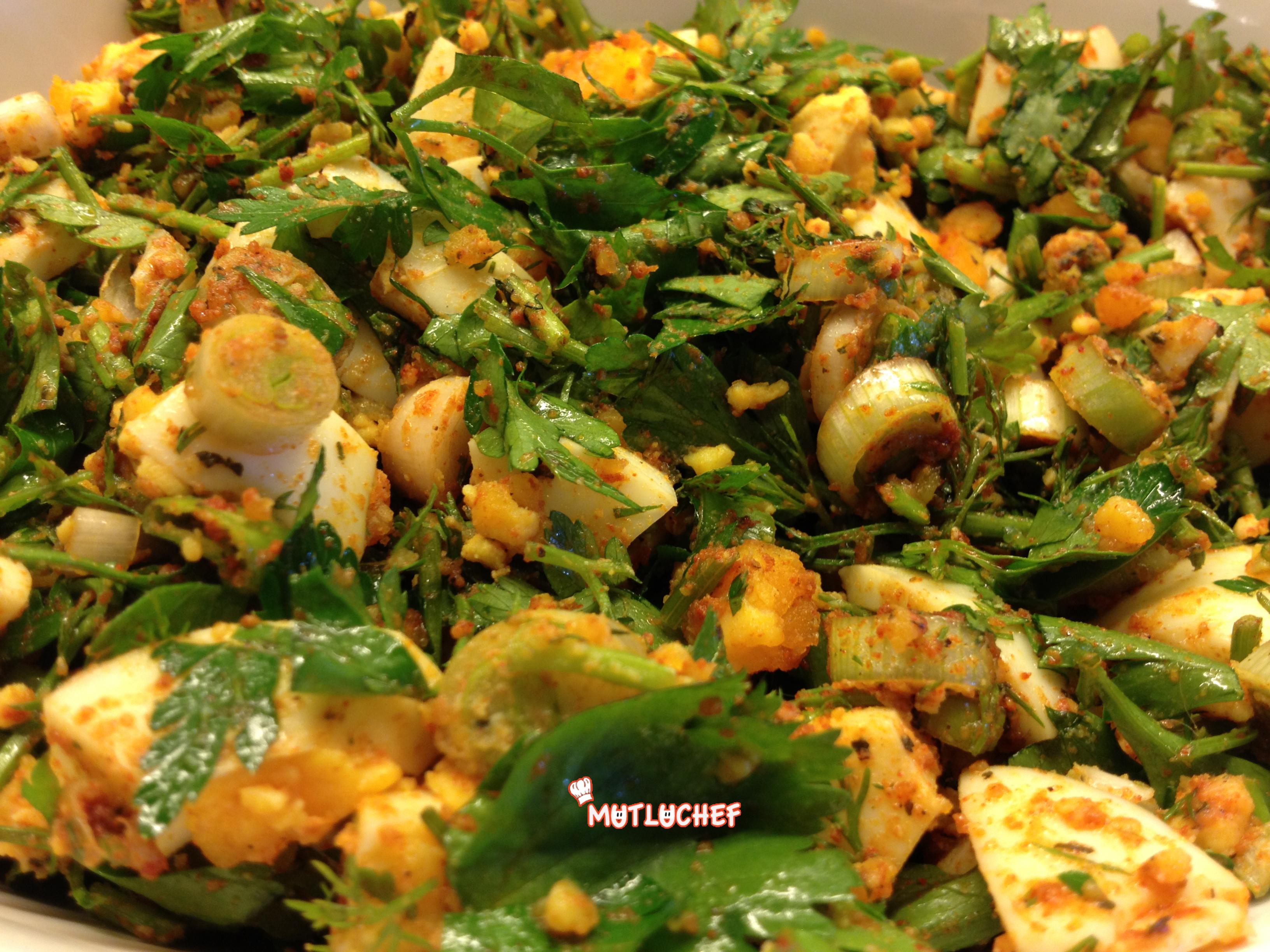 Yumurtali patates salatasi oktay usta